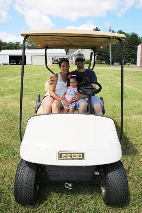 Rides around the farm are always part of the experience!