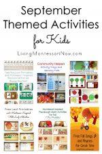 September Themed Activities for Kids