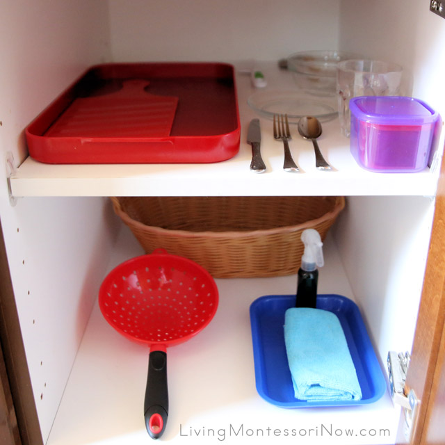 Montessori Snack Cupboard for a Preschooler