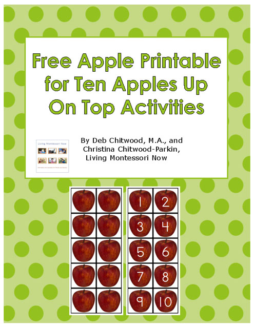 Free Apple Printable for Ten Apples Up On Top Activities