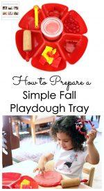 How to Prepare a Simple Fall Playdough Tray {Montessori Monday}