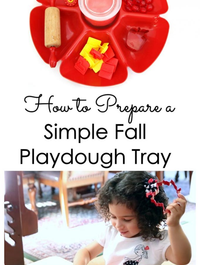 How to Prepare a Simple Fall Playdough Tray