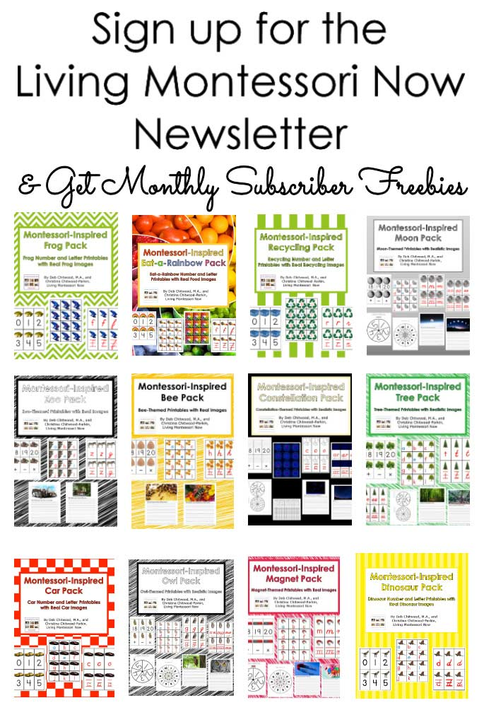 Sign up for the Living Montessori Now Newsletter & Get Monthly Subscriber Freebies