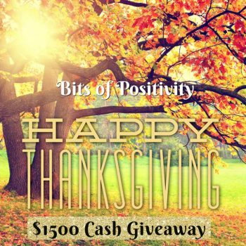 $1500 Thanksgiving Cash Giveaway