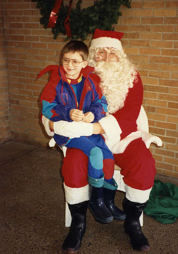 Will (6½) with Santa, 1991