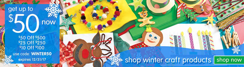 discount school supply winter craft products sale living
