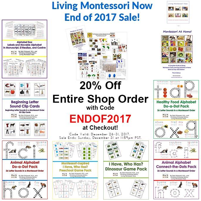 Living Montessori Now End of 2017 Sale!