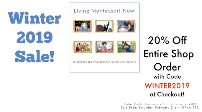 WINTER2019 Sale at the Living Montessori Now Shop!