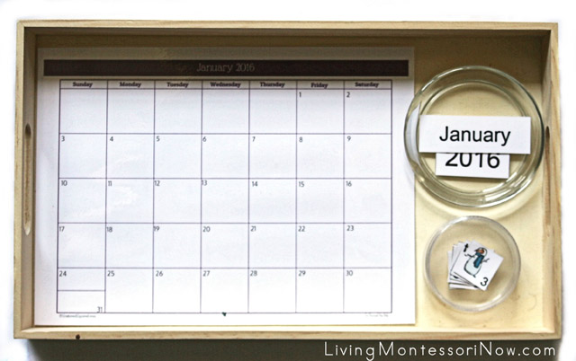 Montessori-Inspired Calendar Tray for Toddlers and Preschoolers