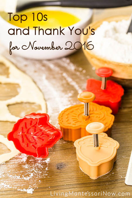 Top 10s and Thank You's for November 2016