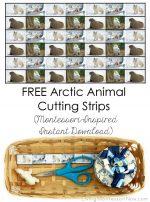 Free Arctic Animal Cutting Strips (Montessori-Inspired Instant Download) – Montessori Monday