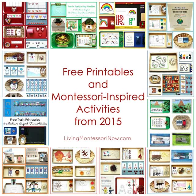 Free Printables and Montessori-Inspired Activities from 2015