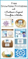 Free Snowflake Printables and Montessori-Inspired Snowflake Activities