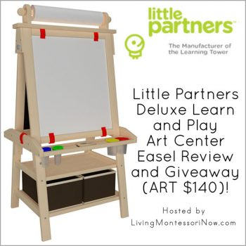 Little Partners Deluxe Learn and Play Art Center Easel Review Review and Giveaway