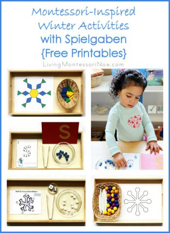 Montessori-Inspired Winter Activities with Spielgaben {Free Printables}