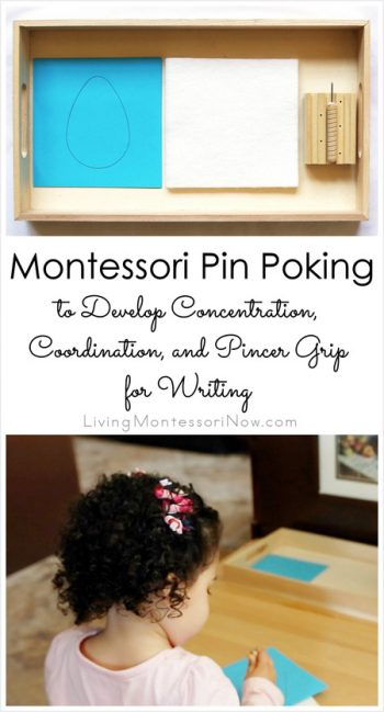 Montessori Pin Poking to Develop Concentration, Coordination, and Pincer Grip for Writing