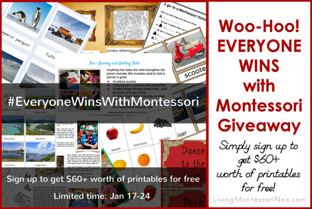 The Montessori Giveaway Where EVERYONE WINS