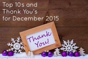 Top 10s and Thank You's for December 2015