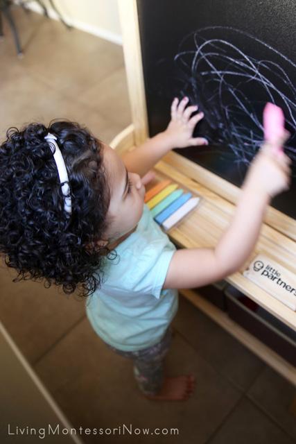 Using the Little Partners Chalkboard