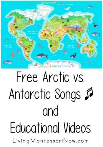 Free Arctic vs. Antarctic Songs and Educational Videos