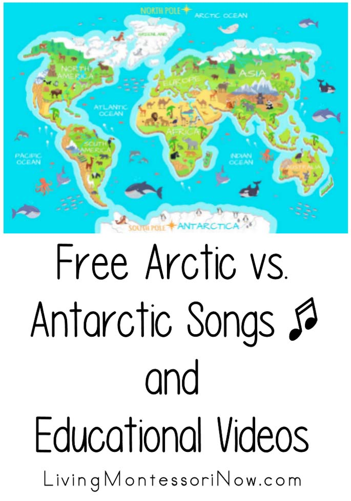 Free Arctic vs. Antarctic Songs and Educational Videos
