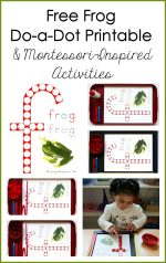 Free Frog Do-a-Dot Printable (Montessori-Inspired Instant Download)
