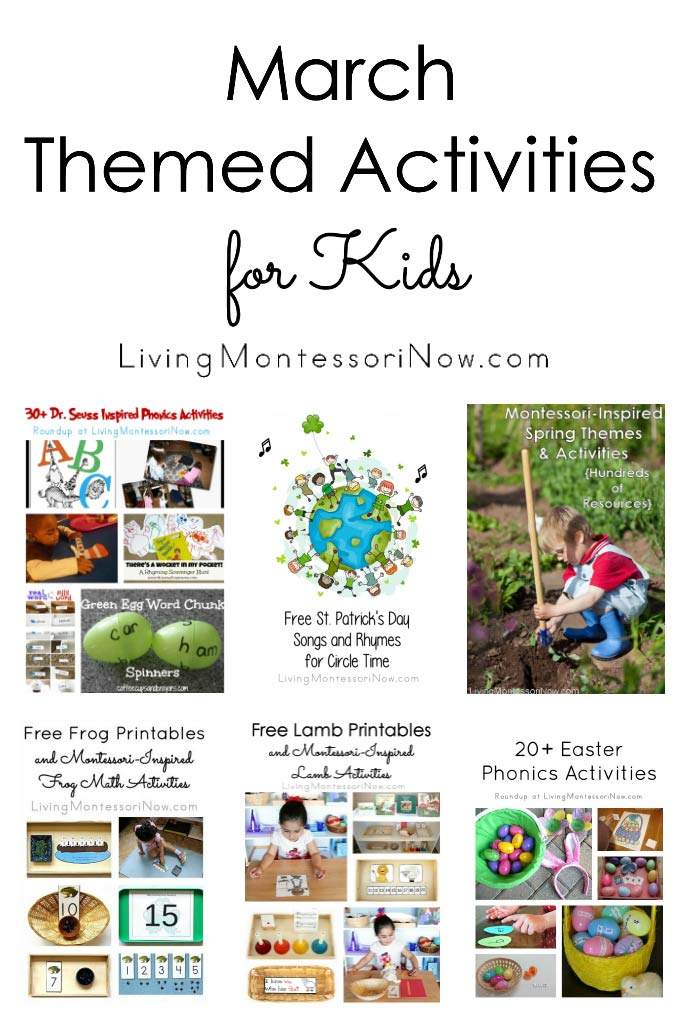 March Themed Activities for Kids