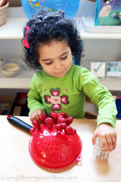 Proud of Her Heart Pick and Colander Work