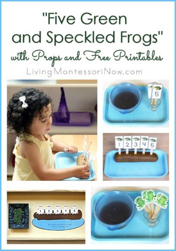 """Five Green and Speckled Frogs"" with Props and Free Printables"