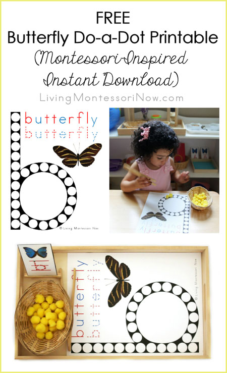 FREE Butterfly Do-a-Dot Printable (Montessori-Inspired Instant Download)