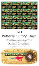 Free Butterfly Cutting Strips (Montessori-Inspired Instant Download) – Montessori Monday