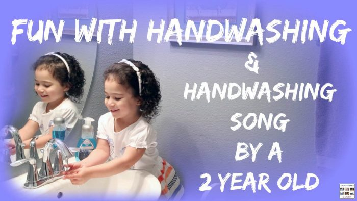 Fun with Handwashing + Handwashing Song by a 2 Year Old {Montessori Monday}