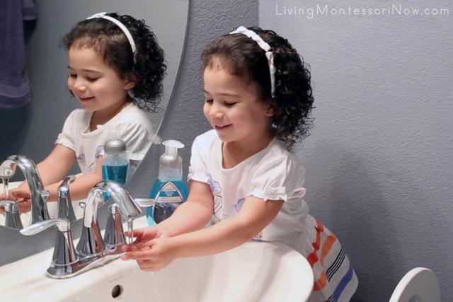 Fun with Handwashing at 2 Years