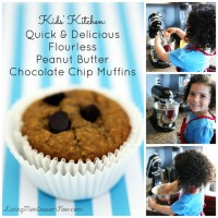 Kids' Kitchen - Quick and Delicious Flourless Peanut Butter Chocolate Chip Muffins