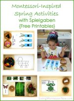 Montessori-Inspired Spring Activities with Spielgaben {Free Printables} – Montessori Monday
