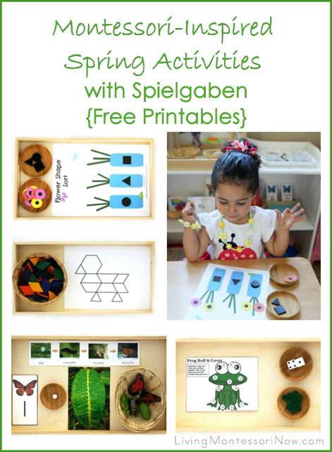 Montessori-Inspired Spring Activities with Spielgaben {Free Printables}