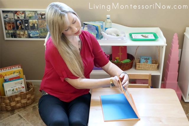 Montessori Presentation on How to Close a Book by Christina Chitwood