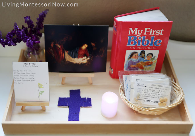 Montessori-Style Mystery of Easter Tray