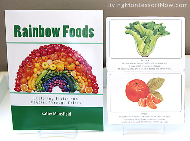 Rainbow Foods Book with Lettuce and Orange Culture Cards