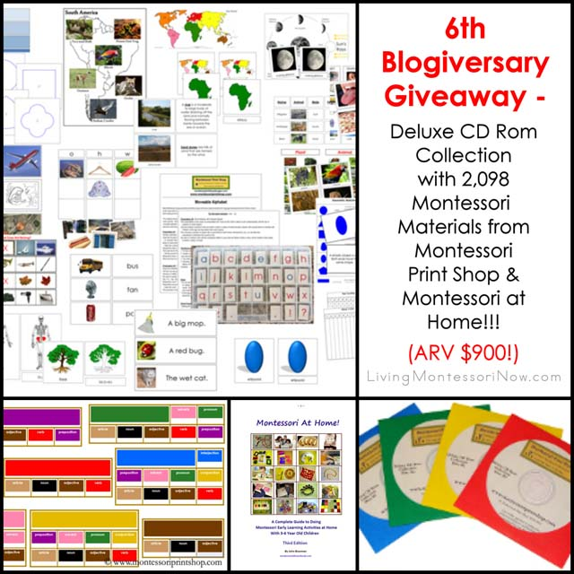 6th Blogiversary Giveaway - Montessori Print Shop Deluxe CD Rom Collection