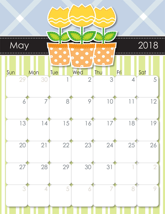 Calendar for 2018 from iMom