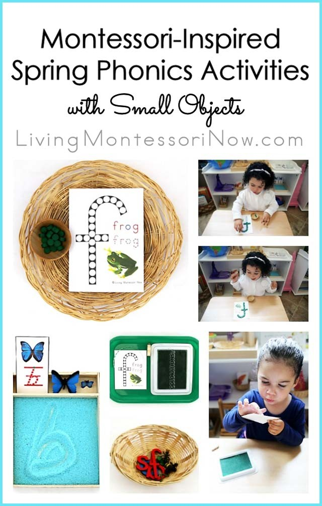Montessori-Inspired Spring Phonics Activities with Small Objects