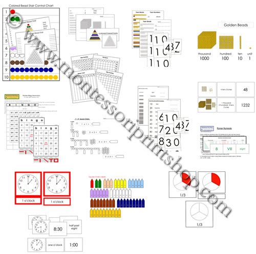 Montessori Print Shop Math Extension Lessons - Sample