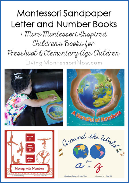 Montessori Sandpaper Letter and Number Books + More Montessori-Inspired Children's Books
