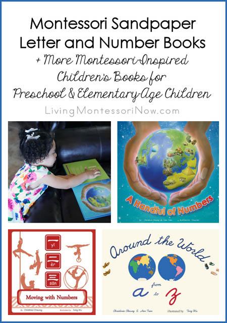 Montessori Sandpaper Letter and Number Books + More Montessori-Inspired Children's Books
