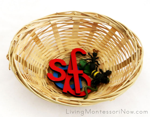 Phonics Basket with Letters and Objects