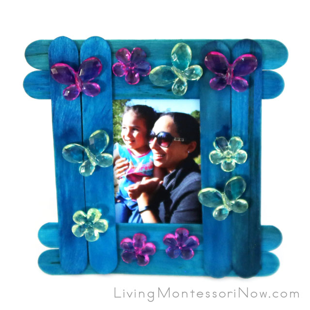 Craft Stick Photo Frame Gift for Mother's Day