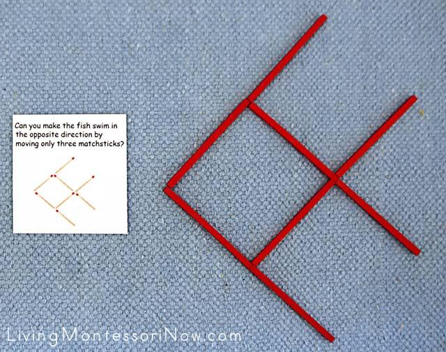 Difficult Matchstick Puzzle with Spielgaben Wooden Sticks