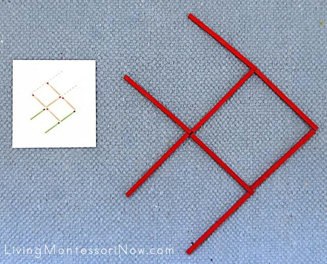 Difficult Matchstick Solution with Spielgaben Wooden Sticks