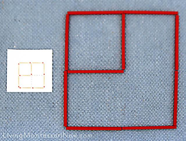 Easy Matchstick Puzzle Solution with Spielgaben Wooden Sticks